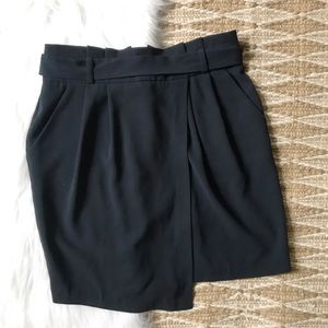 Harper Paperbag Waist Asymmetrical Wrap Skirt